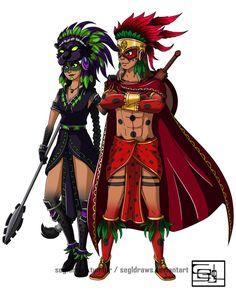 Mikasoyolin and Mistontli by SEGLDRAWS.deviantart.com on @DeviantArt