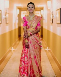 The Most Stunning South Indian Bridal Looks Of South Indian Weddings, South Indian Bride, Indian Bridal, Wedding Sherwani, Punjabi Wedding, South Indian Sarees, Indian Wedding Planning, Wedding Company, Nontraditional Wedding
