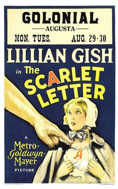 1926 The Scarlet Letter ART & ARTISTS: Film Posters 1913 - 1929