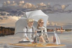 SEA OF TRANQUILITY by Peregrine Heathcote / oil on canvas
