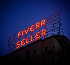 ★★★  SUPER OPPORTUNITY FOR ADVERTISING  ★★★  write your message in neon lights for $5, on fiverr.com