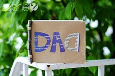 """super cute diy recycled """"Dad""""  booklet with notes in it for dad.-idea write what you did with your father last year"""