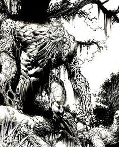 Swamp Thing detail by Blasterkid.deviantart.com on @DeviantArt