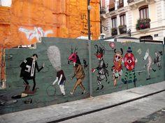 Con escif, saner, julieta, zosen & rhode - Street Art Valencia 2009