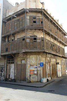 Bahrain - old corner house