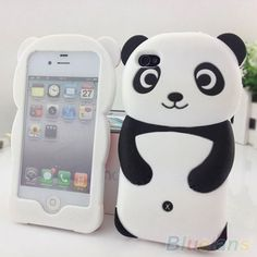 Stunning 3D Panda Silicone Protective Back Case Cover Skin For iPhone 4 4S 5  5S. Iphone 4sApple ... 4c602c123cc