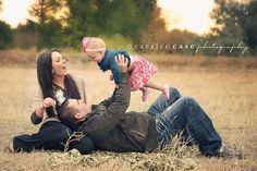 Cute family of 3 photo