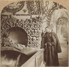 """ancient-serpent: """"Monk praying in the Catacombs of Rome, 1897 """""""