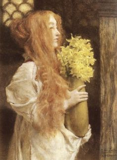 "Sir Lawrence Alma-Tadema   Dutch/British  1836 - 1912  ""Spring Flowers"""