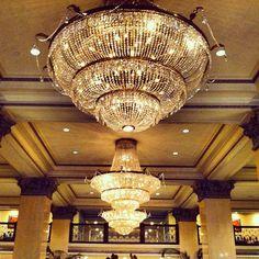 San Diego Vacation - US Grant Hotel - Chandelier