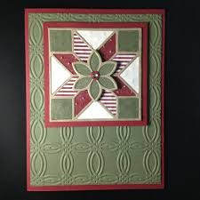 Image result for quilted christmas stampin up framelits card ideas
