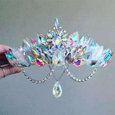 The Aurora Crystal and Quartz Gemstone Crown - Mermaid Crown - shell crown - Crystal Crown - hen party - baby shower - Made to Order by FridaFlowerCrowns on Etsy Cute Jewelry, Hair Jewelry, Jewelry Accessories, Shell Crowns, Mermaid Crown, Magical Jewelry, Accesorios Casual, Crystal Crown, Crystal Dress