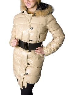 Top Quality Moncler LUCIE New Women Pop Star Beige Coat Down With Free Shipping