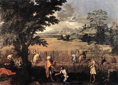 Summer, Ruth and Boaz by Nicolas Poussin