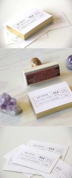 stamp business cards.