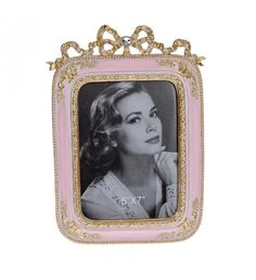POLYRESIN FRAME IN PINK_GOLD COLOR 13X18