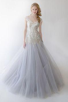 Gown by Kelly Faetanini #weddingdresses #purple