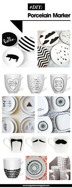 DIY porcelain marker ♥