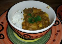 Potato Chick-Pea Curry W/Garlic Roasted Cauliflower - Serve W/Basmati Rice & Cha Recipe -  Very Tasty Food. Let's make it!