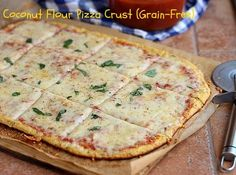 Coconut Flour Pizza Crust (Grain-Free)