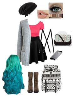 """""""Old Draft/ Ayrabel"""" by searra-carriker ❤ liked on Polyvore featuring Club L, Sam Edelman, Monki, Billabong and Manic Panic"""