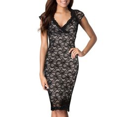 Black Lace Dress NWT black lace dress - size small. Perfect condition. Never been worn. Still has tags! Miusol Dresses Midi
