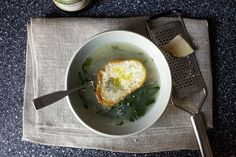 parmesan broth with kale and white beans