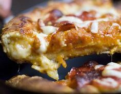 Copycat Pizza Hut Stuffed Crust Pepperoni Pizza #recipe