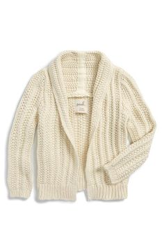 Free shipping and returns on Peek 'Joss' Knit Shawl Collar Cardigan (Baby Girls) at Nordstrom.com. She'll look darling all bundled up in this chunky knit cardigan with a shawl-style collar that's perfect for breezy autumn days.