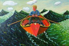 John Neville #artist #art #oilpainting #bayoffundy #canada #johnneville #bayoffundy #ocean #novascotia #hallsharbour