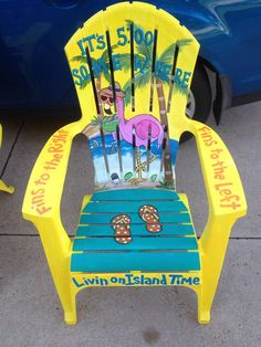 Jimmy Buffett Themed Hand Painted Adirondack Chair