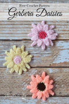 Crochet Gerbera Daisies Free Pattern