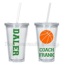 Basketball coach tumbler coaches gift by TheHomeMadeHoliday