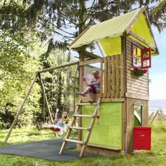 Cubby Houses, Play Houses, Outdoor Playground, Cubbies, Kids And Parenting, Ladder, Sweet Home, Planters, New Homes