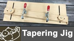 Make a Tapering Jig for the Table Saw.  Get more details here: https://www.monolocoworkshop.com/2016/05/make-a-tapering-jig.html
