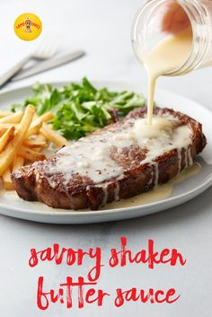 Our Savory Shaken Butter Sauce uses a shaken technique that is a great shortcut to the perfect butter sauce every time. Pour over grilled steak, crisp vegetables or flaky fish.