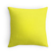 Yellow Highlighter Solid Summer Party Color by podartist Bright and warm Yellow Highlighter solid color is perfect for summer parties and outdoor entertaining décor and gifts. Pastel Yellow, Shades Of Yellow, Neon Yellow, Yellow Throw Pillows, Yellow Cushions, Yellow Home Decor, Colorful Party, Contemporary Area Rugs, Furniture Design