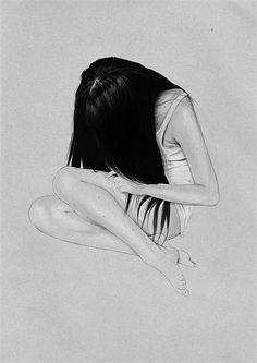 Black hair illustration by Judith Van Den Hoek