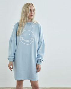 Lazy Oaf Blue No Thanks Sweatshirt