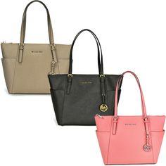 811a49927d48 Michael Kors Jet Set Top-Zip Saffiano Leather Medium Tote - Choose color.  Tote Women Leather Handbag Hobo Bag ...