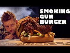 Smoking Gun Burger Recipe - Burger Lab  Dude Food Gutta!