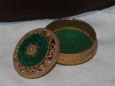 Another Florenza pill box that I own.  The ornamentation on the lid is really cool. This box is not posted on ETSY.