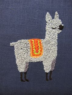 Embroidered Alpaca: