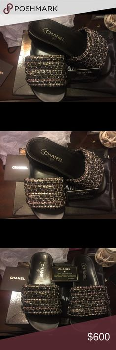 CC sandals Brand Coco Chanel new reposh runs small says size 10 but fits like a 9.5 great fashion purchase willing to negotiate price CHANEL Shoes Sandals