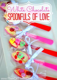 White Chocolate Valentine's Day Spoonfuls of Love