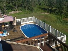 Round Above Ground Pools With Decks Google Search Back And