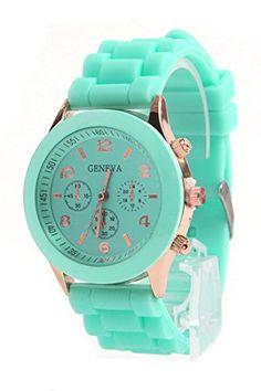 DAISY*VZU Brand New Unisex Silicone Jelly Golden Quartz Wrist Watch Mint Green DAISY*VZU http://www.amazon.com/dp/B00RCNTZPO/ref=cm_sw_r_pi_dp_DTvfvb1GCV66B