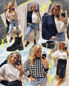 Shop Your Screenshots™ with LIKEtoKNOW.it, a shopping discovery app that allows you to instantly shop your favorite influencer pics across social media and the mobile web. H&m Shopping, Outfit Essentials, Polo Neck, Silk Skirt, Daily Look, Jumpers, Knits, Monochrome, Winter Outfits