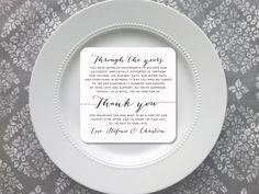 Printable Wedding Reception Thank You Card Wedding Thank You