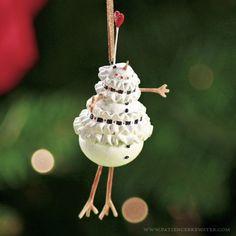 Mini Mrs. Snowman Ornament